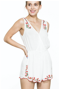 Floral Embroidered Breezy Romper