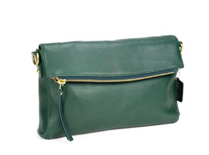 Leather Foldover Crossbody