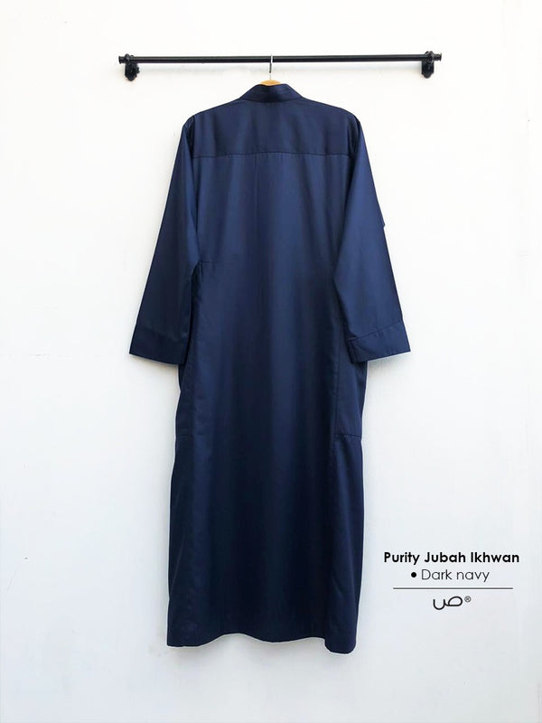 Purity Jubah Ikhwan Dark navy