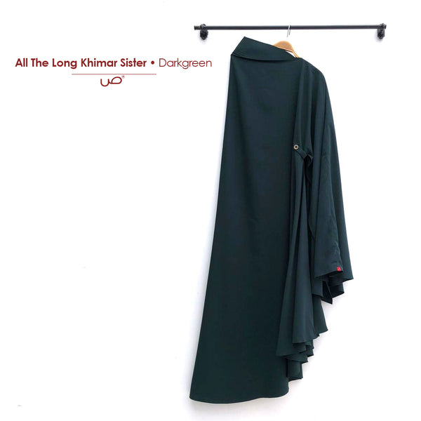 All Day Long Khimar Sister Darkgreen