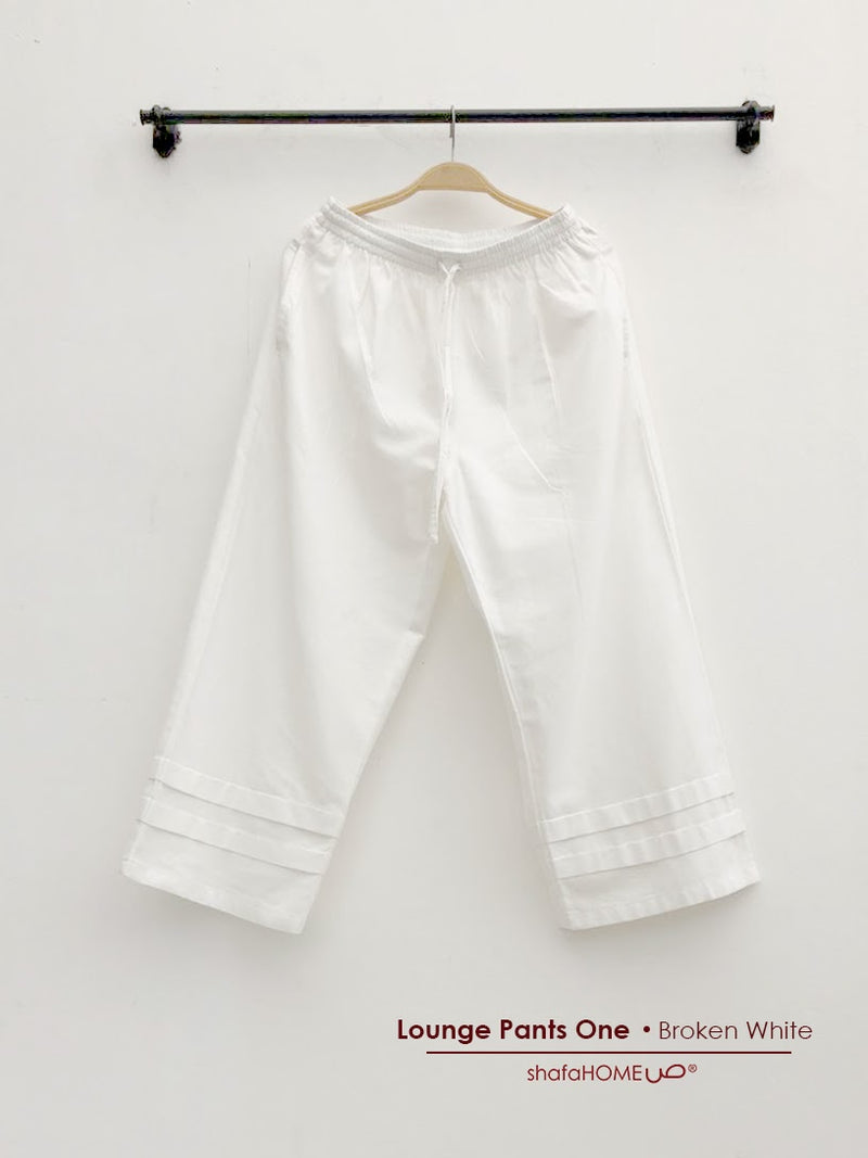 Shafahome Lounge Pants One Broken white