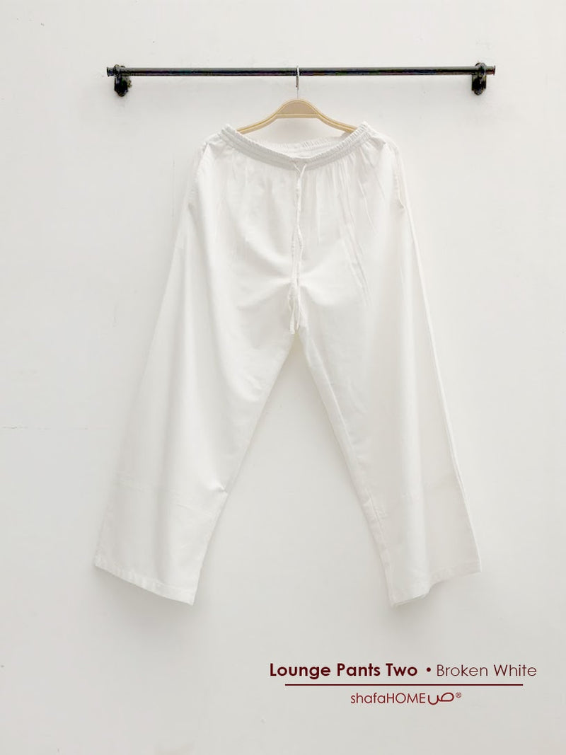 Shafahome Lounge Pants Two Broken white