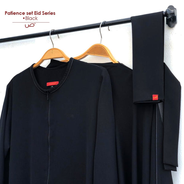Patience Set Black (tanpa niqab)