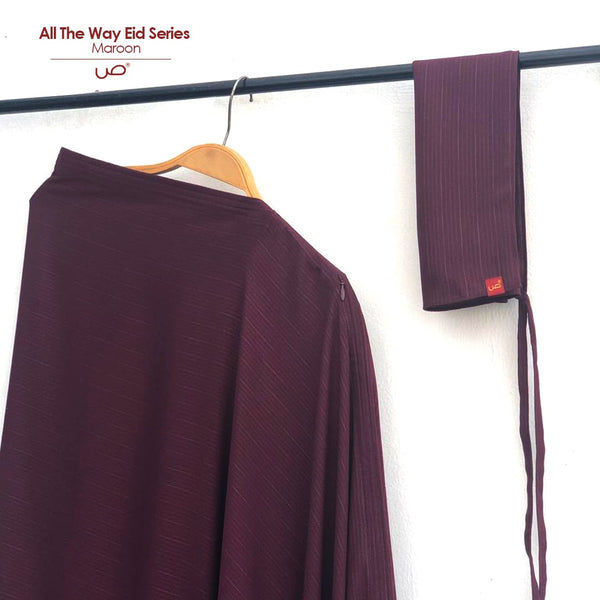 All The Way Wear Eid Series Maroon