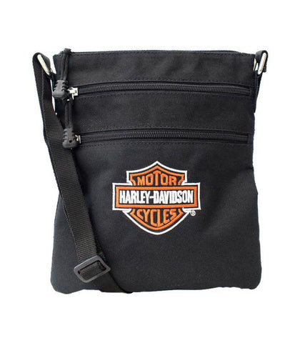 Harley-Davidson® Embroidered Bar & Shield Logo Crossbody Purse with Adjustable Strap