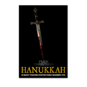 "Hanukkah Theatrical ""Fuck Christmas"" 24x36 Poster"