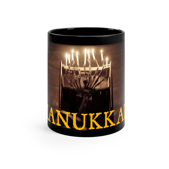 Hanukkah Bone Menorah Coffee Mug 11oz