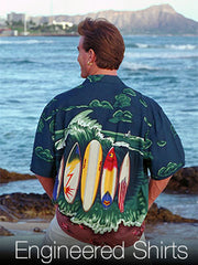 engineered print Hawaiian shirt