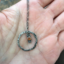 Load image into Gallery viewer, Citrine Circle Necklace
