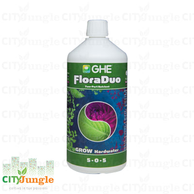 Ghe Floraduo Grow Hardwater 1L Fertilizzante