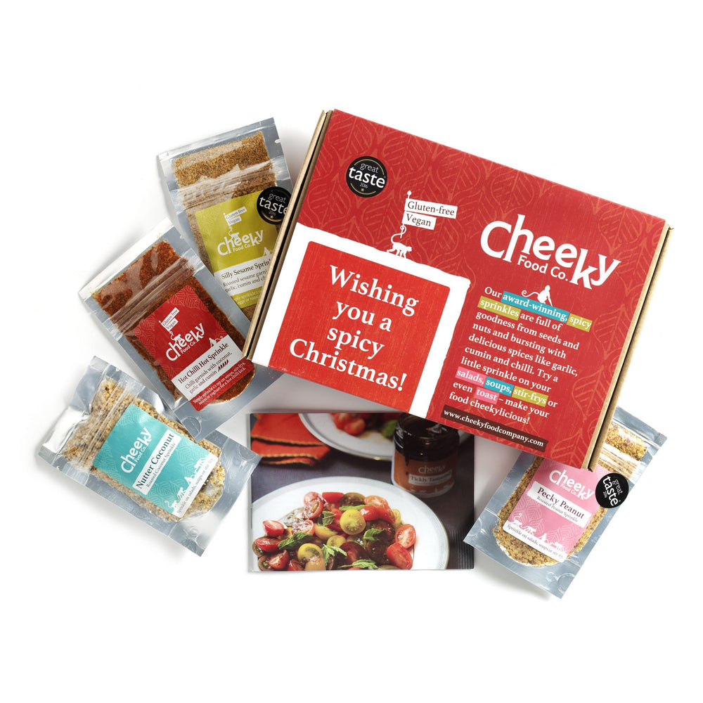 Christmas Vegan Stocking Filler - Sprinkle Pouch Gift Set - Cheeky Food Company