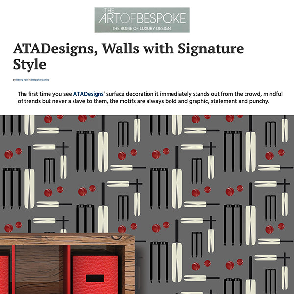 Art of Bespoke - Cricket Wallpaper Design by ATADesigns