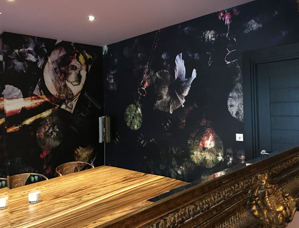 Bohemian Style Mural Design by ATADesigns and Arka Chergui in Residential Project