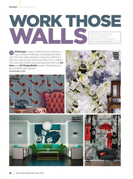 Boutique Hotelier Magazine features murals by ATADesigns