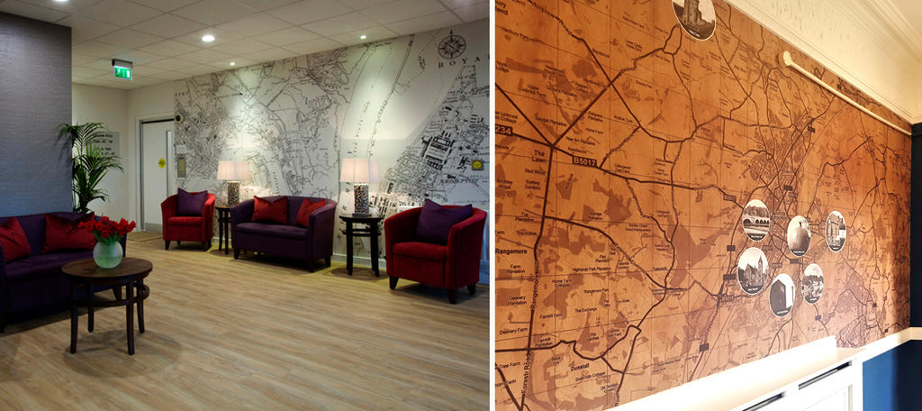 Boutique Map for Interiors by ATADesigns for Care Homes