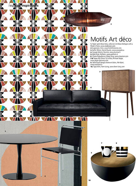 Deco Fans Art Deco wallpaper by ATADesigns with other products on page