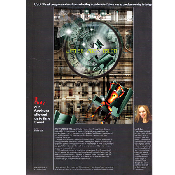 Furniture Time Travel Design by ATADesigns in Insideout Magazine