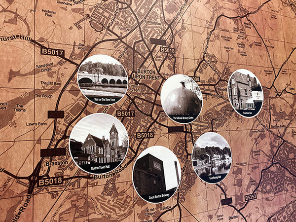 Bespoke Map Design by ATADesigns for Towerview Care.  Printed by Switchscene.