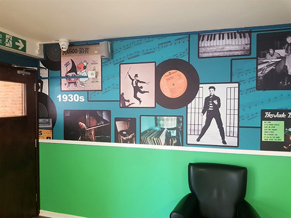 Bespoke Mural Design by ATADesigns Featured at Towerview Care Home.  Printed by Switchscene.