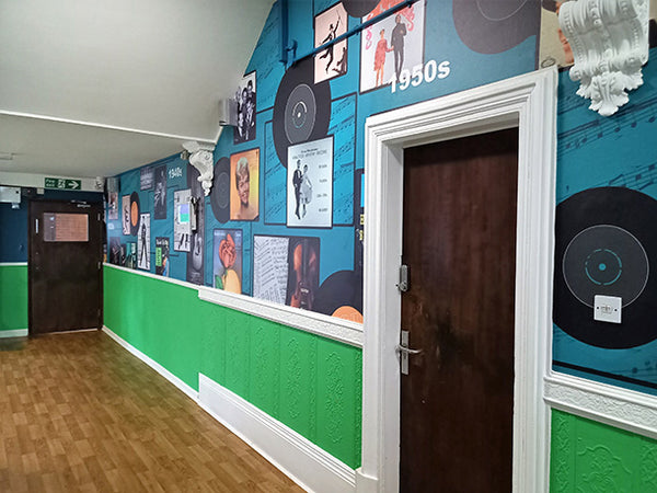 Bespoke Mural Design by ATADesigns at Towerview Care.  Printed by Switchscene.