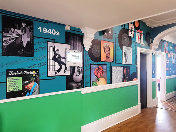 Bespoke mural design at Towerview Care by ATAdesigns