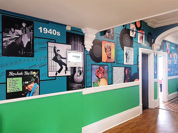 Bespoke Music Wall Mural Design by ATADesigns at Towerview Care