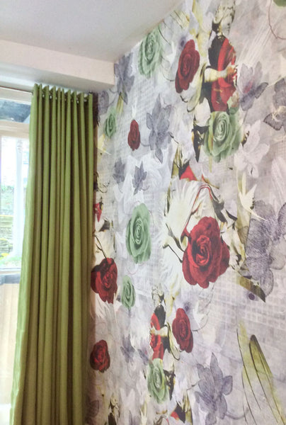 Angel Among Roses Wallpaper Design by ATADesigns at Chelsea House Hotel - London