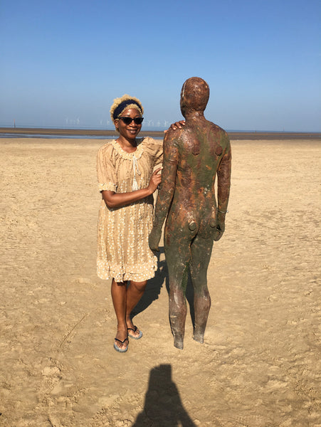 ATADesigns on Crosby Beach during meeting with client - Liverpool