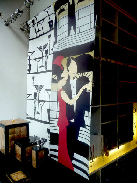 Art Deco Single Panel Murals by ATADesigns feature at Living In Space interior design firm.