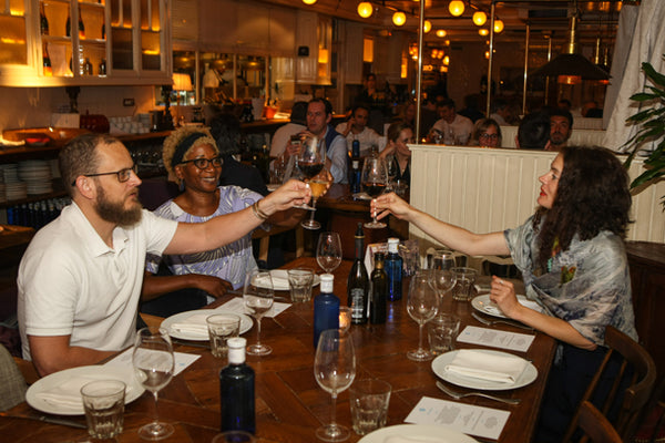 ATADesigns at dinner with Marcus Timson and Ellipop during HP Print Interiors Forum - Barcelona