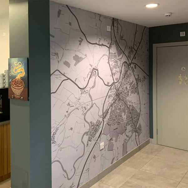 Boutique Map Installed at Gannets Day Cafe & Bistro by ATADesigns working in Association with Switchscene