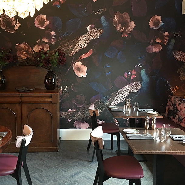 Three Peacocks Mural Design by ATADesigns Installed at The Northgate, Bury St. Edmunds