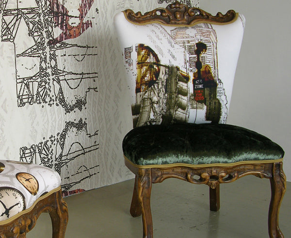 Upholstered Chairs by Urban Upholstery.  Fabric design by ATADesigns.