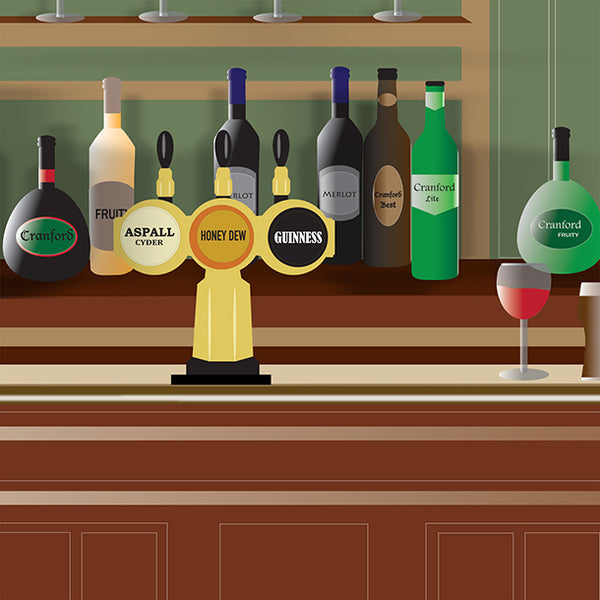 Bar Illustration Design by ATADesigns for Cranford Residential Home