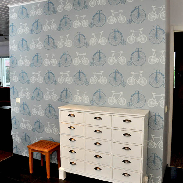 Bicycles Wallpaper Design by ATADesigns in Residential Project