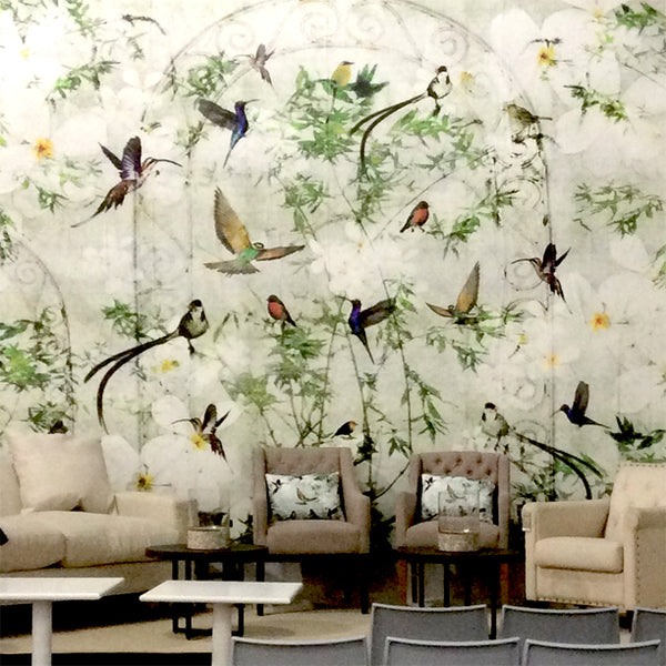 Birds Mural Design by ATADesigns at the Independent Hotel Show - Innovation Stage - London