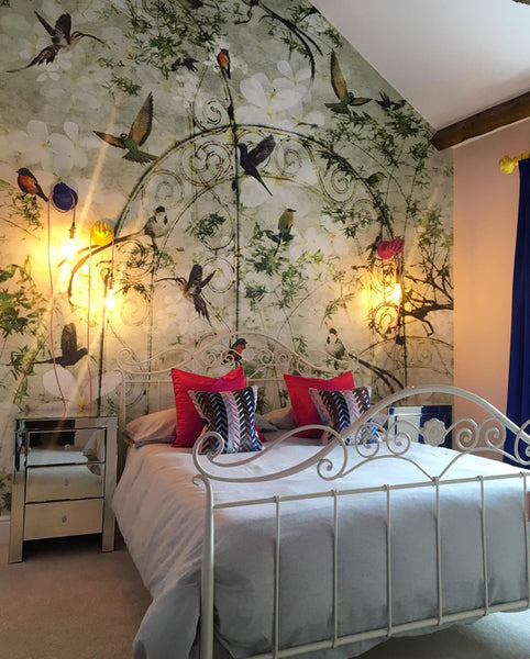 Birds Mural Design by ATADesigns in Residential Project - Interior Design by Elisa Interiors