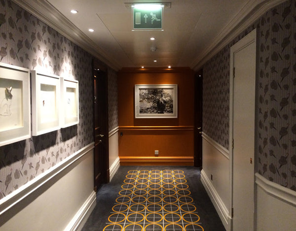 The Bowler Hat Wallpaper Design by ATADesigns at the London Marriott Hotel County Hall