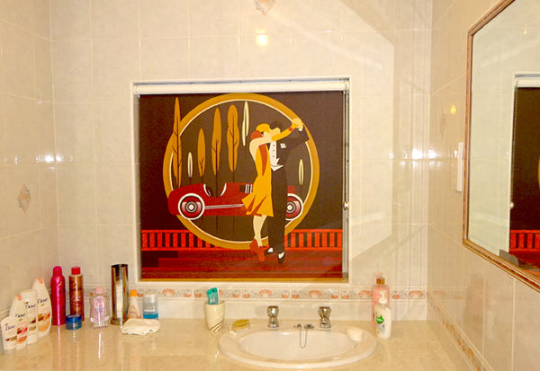 Dancing Couple Art Deco Roller Blind Design by ATADesigns in Bedroom - Residential Project