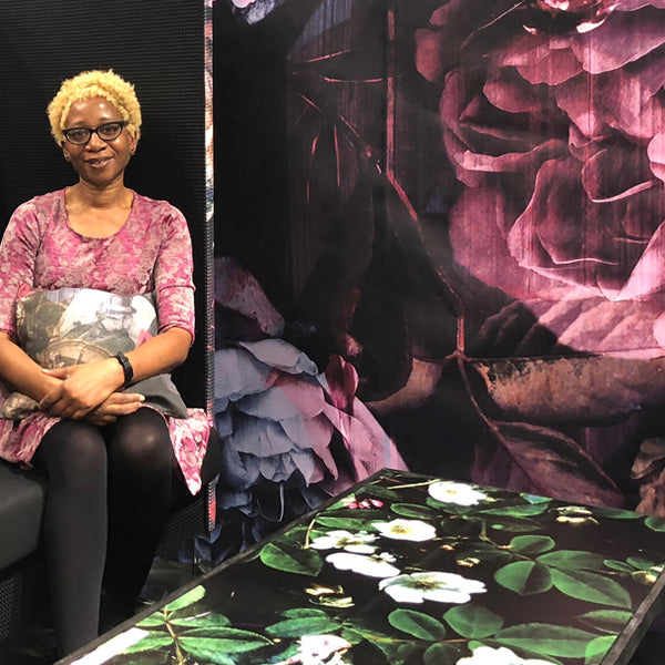 Designs by ATAdesigns on HP Stand at Heimtextil in Association with Trendease International