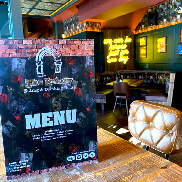 Dog N Watch wallpaper Design by ATADesigns and Arka Chergui on menu at The Priory in Tynemouth