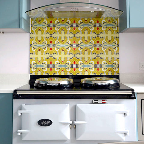 Funky Abstract Tile Design by ATADesigns.  Kitchen Design by Elisa Interiors.