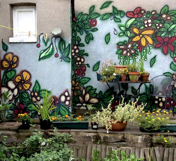 Garden Mural Design by ATADesigns - Residential Project