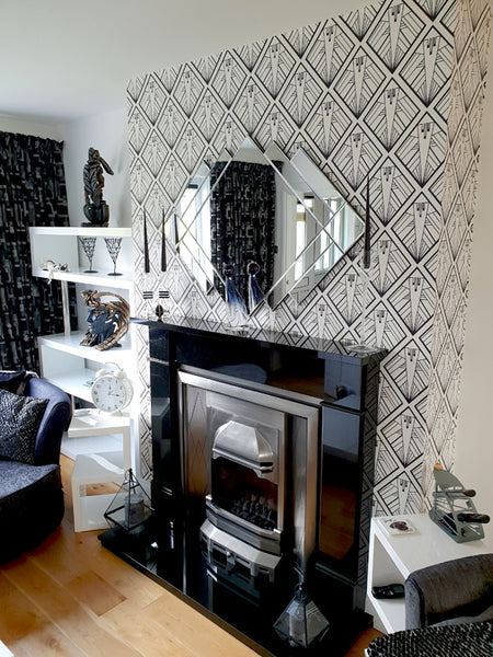 Geometric Art Deco Wallpaper Design by ATADesigns - Residential Project