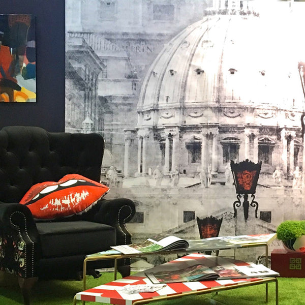 Il Cupolone - The Italian Dome Mural Collaboration Mural Design by ATADesigns and Elisa Interiors