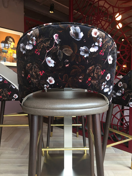 Kews Leafy Florals Fabric Design by ATADesigns on Upholstered Chairs