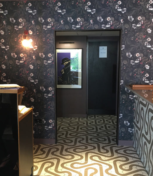 Kews Leafy Florals Wallpaper design by ATADesigns at The Jones Family Kitchen - London