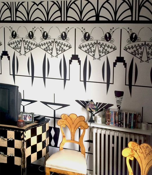 Manhattan Ladies Art Deco Mural by ATADesigns for Residential Project