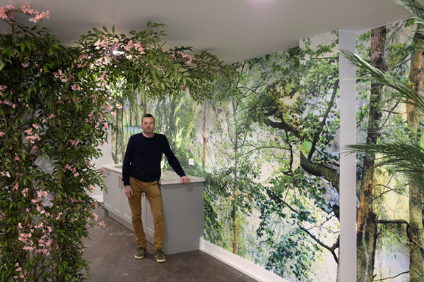 Nature Mural Design by ATADesigns at the Dora Rose Care Home - Gareth Wyn-Jones in picture