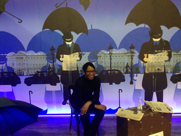 ATADesigns in front of Neon Palace Mural at DAS (Design, Architecture, Style) Interior Show, Moldova